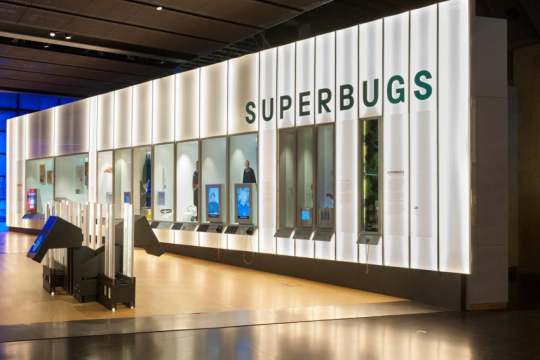A travelling exhibition available as a digital blueprint: 'Superbugs: The Fight for Our Lives' by the Science Museum